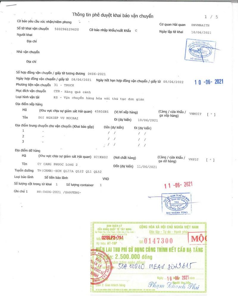 Dịch vụ khai báo vận chuyển hàng quá cảnh Campuchia